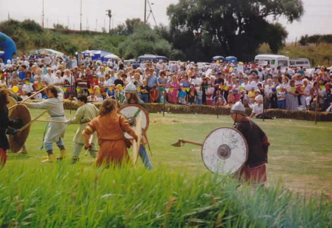 Viking battles on the meadow. | Pat Adams