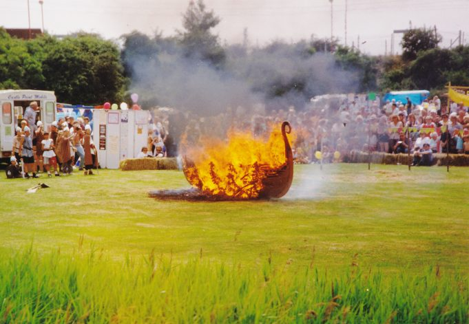 Burning of the Viking boat | Pat Adams