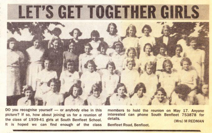 Benfleet Primary School 1939 to 1941