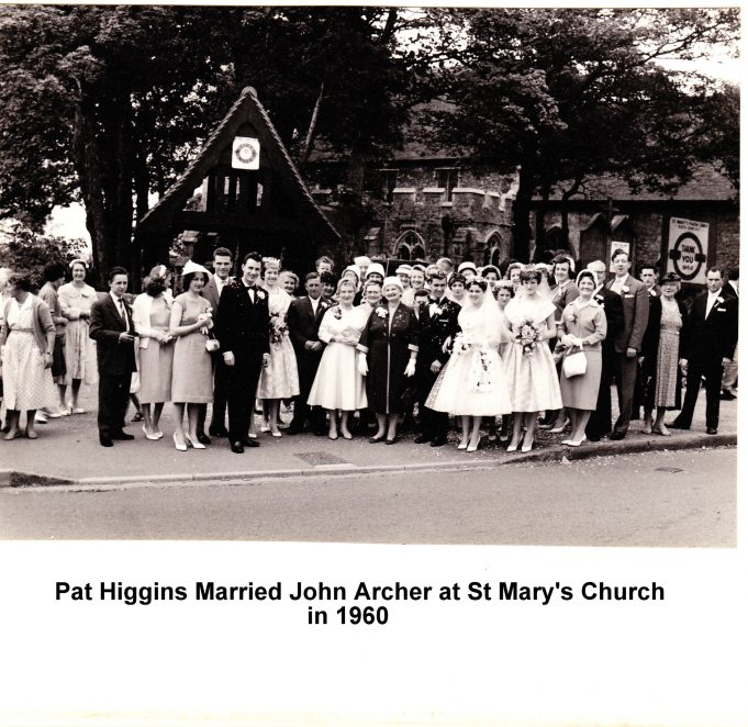Pat Higgins married John Archer 1960