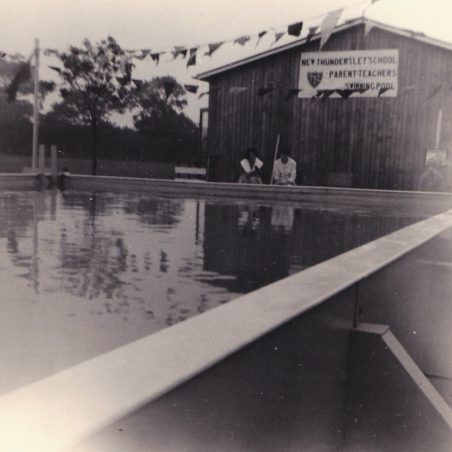 The new swimming pool, behind the classrooms. | Doreen Colvin (Nee Batchford)