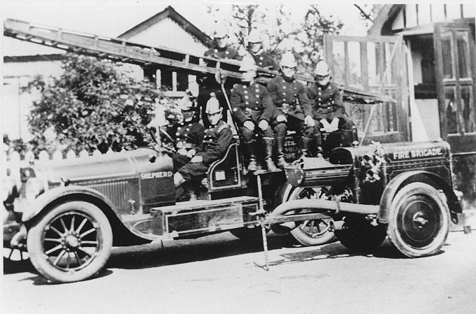The new tender with further trailer equipment acquired circa 1926. | Essex Fire Museum