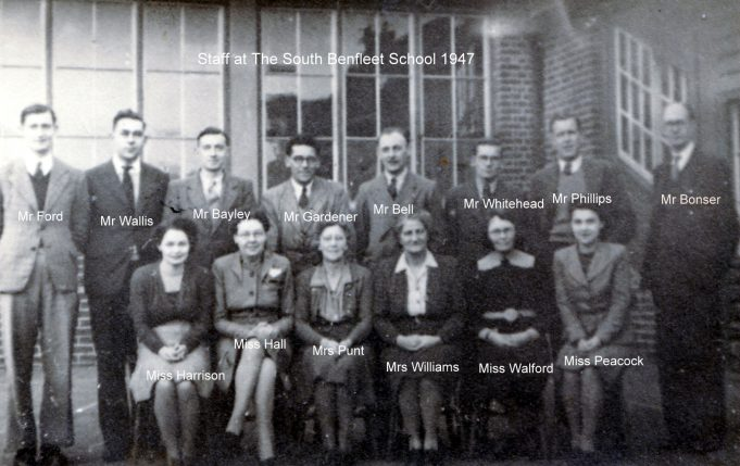 South Benfleet School Staff 1947