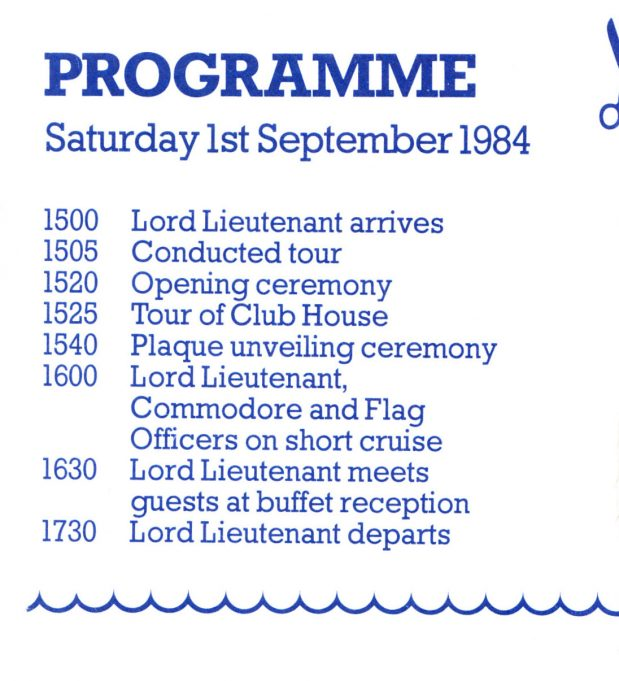 Programme of events for the opening day. | Paddy Marrison