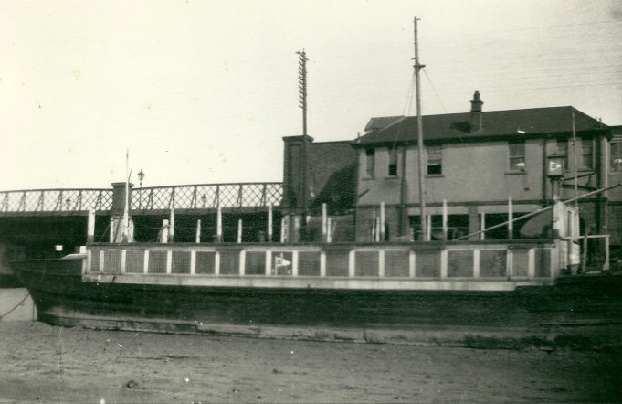 Benfleet Yacht club the 'Soar' positioned by the railway station.  It was from here that some races were officiated. | Gilbert Wines