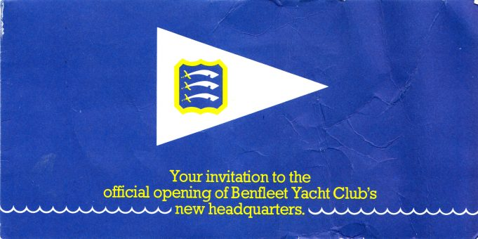 Invitation to the opening of Benfleet's new yacht club. | Paddy Marrison
