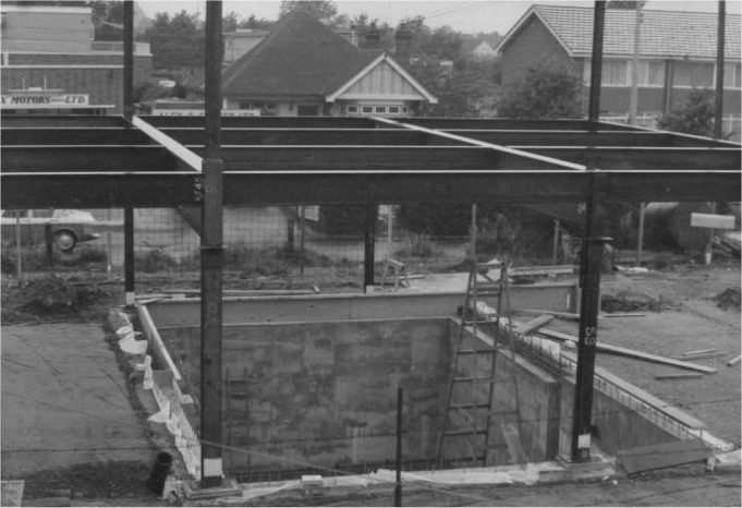 Bank during construction 3