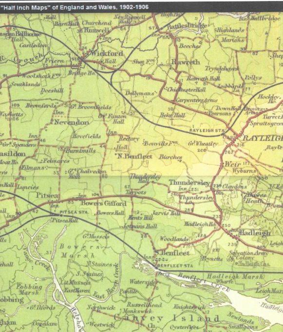 1902 - 1906 Bartholomew's  Half Inch Maps England and Wales