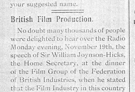 Carter-Boston Film Studio in the Newspapers