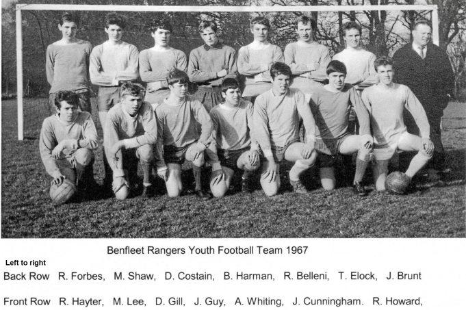 Benfleet Rangers Youth Team 1967 | Mick Lee