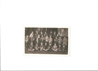Members of the school's Percussion Band c. 1932 or 1933.  Please click on photos to enlarge. | Ian Johnson