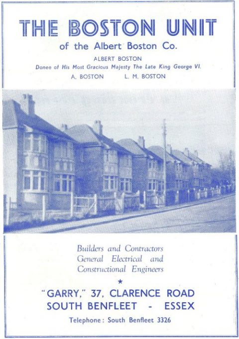 The 1953 advert for the Boston Unit in the Coronation Programme