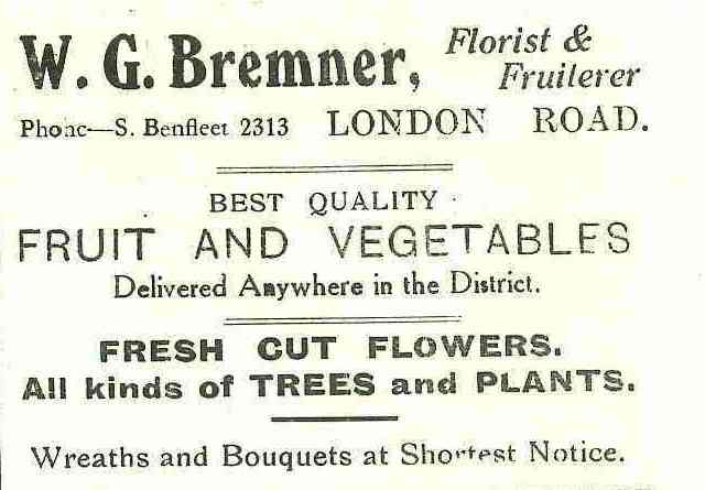 Shop 18 - Advert for W.G. Bremner | B.U.D.C.
