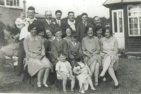 Family Group at The Duchy, Benfleet c. 1930, taken by Rebie