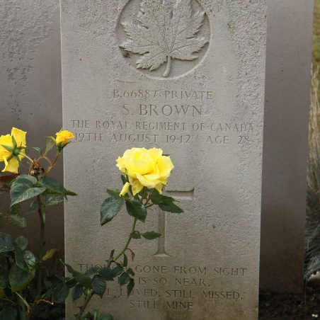 Grave of Sidney Brown. | Copyright.  The War Graves Photographic Project.