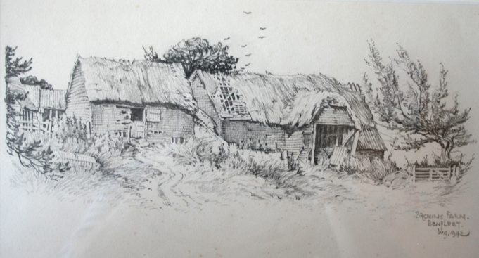 Brown's Farm drawing 1942