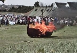 The burning of the Viking boat | Michael Waterton