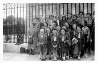 Could this be outside Buckingham Palace? | Annie Scott (nee Johnson)