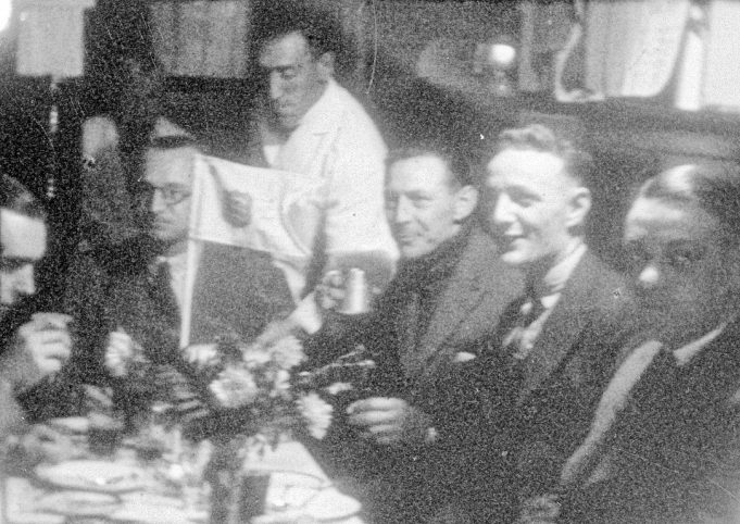 A function in the bar of Benfleet Yacht Club, date approx 1945 - 1950's | Gilbert Wines