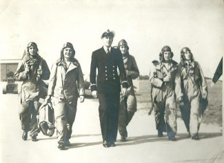 Petty Officer Charles Wines far right during his training to be a pilot in 1938. | Gilbert Wines