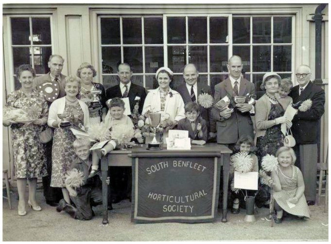 South Benfleet Horticultural Society at South Benfleet School c. 1958. | Pat Baldwin