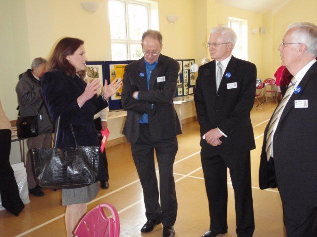 Rebecca Harris MP talking to members of the BCA Committee: Chairman Mark Thres, Webmaster Phil Coley and Treasurer Mike Day. | Christine Coley