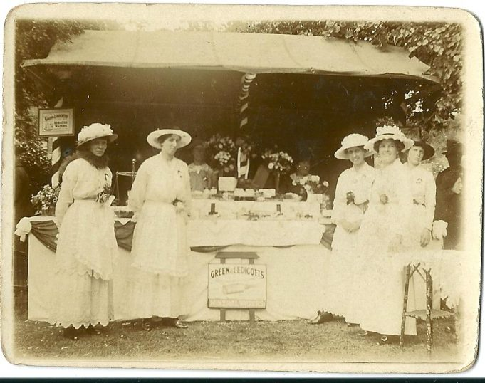 Mrs Marchant's charity event at Sweet Briar Farm House Garden date unknown. | From the collection of the late Kath Fisher with the permission of Paddy Marrisson
