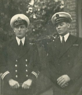 Charles on the left and Gilbert Wines, both brothers were in the Royal Navy, Gilbert worked in the stores. | Gilbert Wines