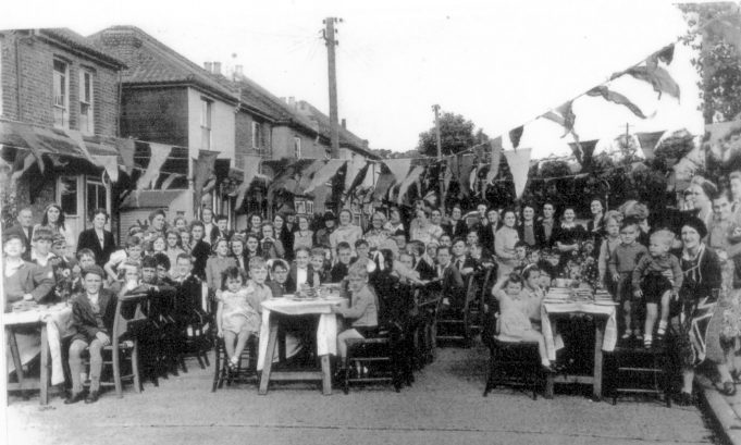 Celebration of the end of the Second World War 1946 held at Brook Road