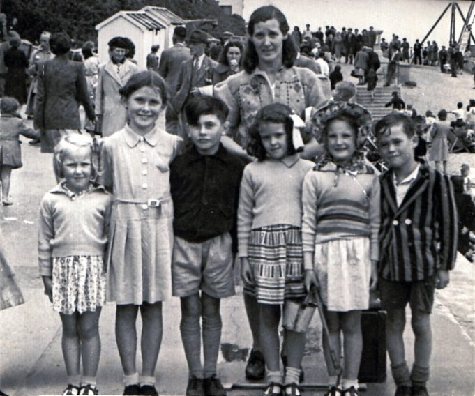 A day out at Clacton? Lily Pigrome is the adult at the rear. The chidren left to right are Eileen Rawlings, Valerie Butler, Brian Carter, Pat Pigrome, Rose Rawlings and Tony Butler | Rose Rawlings