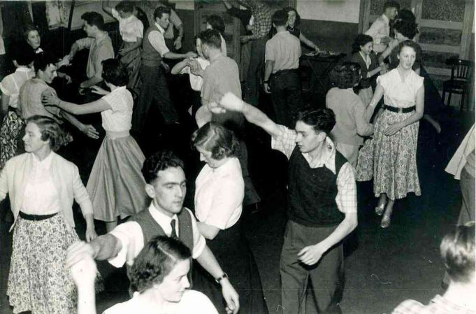 Club Dance British Legion Hall, Castle Lane, Hadleigh | From the collection of Joan English nee  Phillips