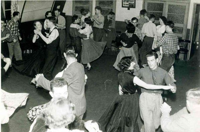 Club Dance at The British Legion Hall, Castle Lane, Hadleigh | From the collection of Joan English, nee Phillips