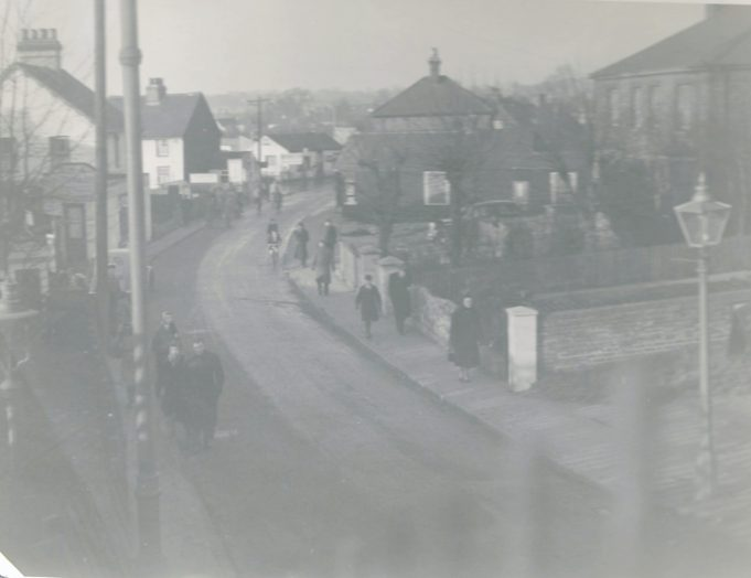 The High street taken from the foot bridge date unknown. | Gilbert Wines