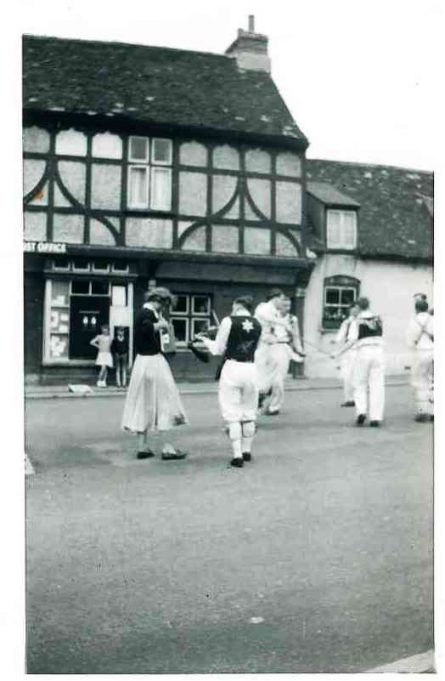 Coronation Day Tour - Benfleet Memorial (the old Post Office can just be seen behind the dancers) | Joan English (nee Phillips)