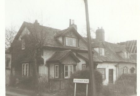 Corner of Grosvenor Road and Essex Way, 1965