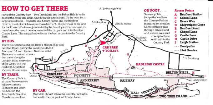 "Map of Benfleet Downs showing position of Poynetts farm. Number  3   - ""Benfleet Church eastwards via The Endway along the footpath to the right to Poynetts and then north-eastwards to Benfleet Road by the Round Hill.  This path to Poynetts passes along the ridge of the earthwork of the Danish period.  It is the top of a glacis and beyond to the waterside is the visible signs of the burial ground of the victims of the Benfleet battle."" 