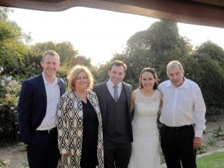 My wife Brigitte (German born), my two youngest boys - Martin, and Michael with his new bride Belinda. | John Garnham