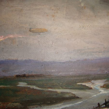 Airship going up the Thames | Hobden ?