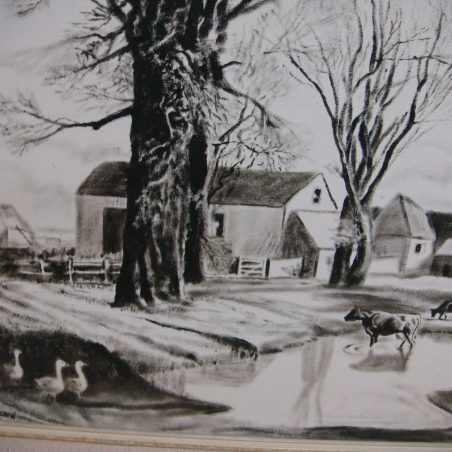 Farmyard scene by E. Etherington of Canvey