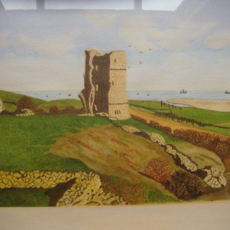 Hadleigh castle ruins by B. Anthony-Adams (1986)