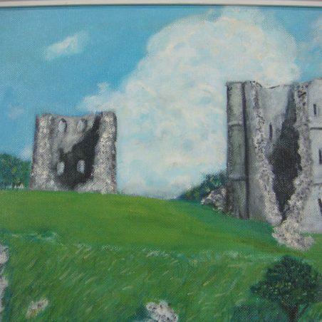 Hadleigh Castle ruins by J. E. Loxton