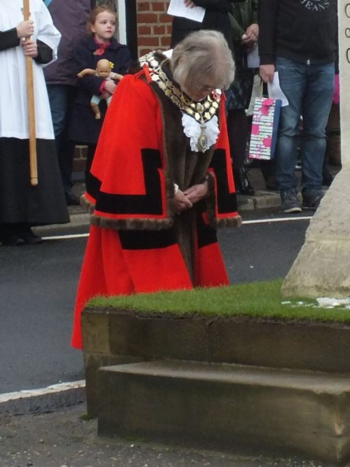 The Mayor, Cllr. Jackie Govier, lays the first wreath | Phil Coley