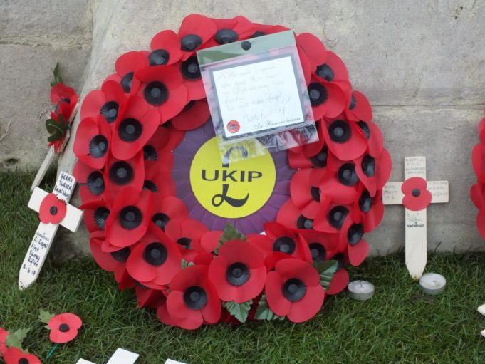 The Castlepoint UKIP wreath | Phil Coley