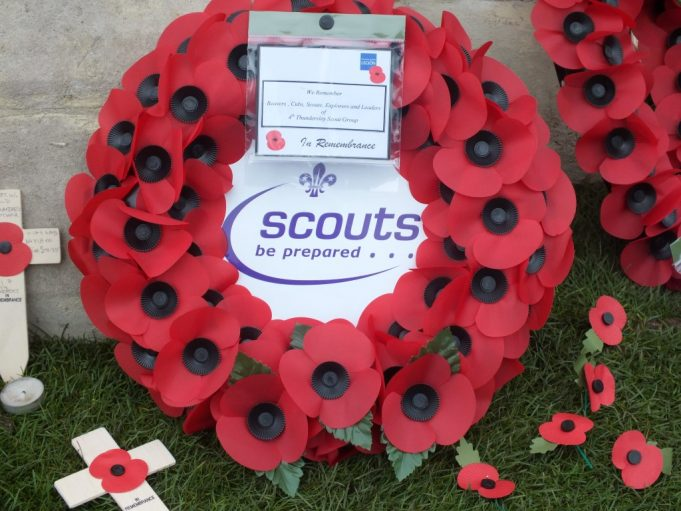 The 4th Thundersley Scout Group wreath | Phil Coley