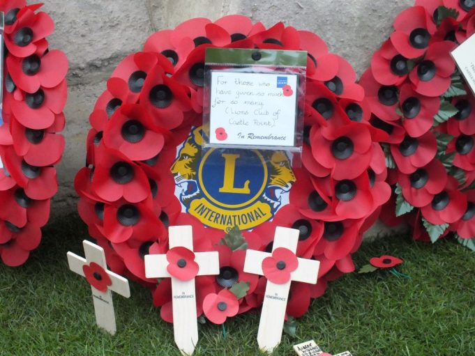 The Lions Club of Castlepoint wreath | Phil Coley