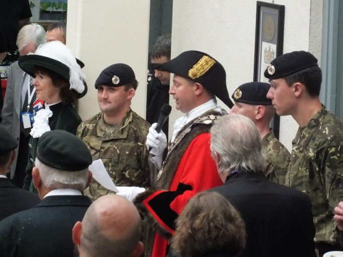 The High Sheriff of Essex, a Sapper, The Mayor and two other sappers. | Phil Coley