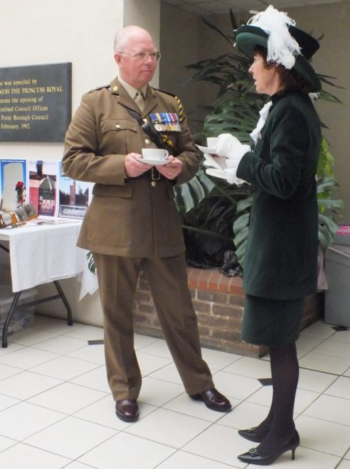 Lieutenant Colonel Richard Dixon-Warren and the High Sheriff of Essex, Mrs Lorna J Rolfe JP talking. | Phil Coley