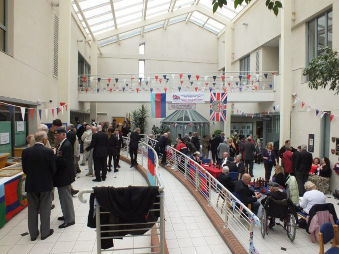 A view of the CPDC Offices' atrium and the guests present. | Phil Coley