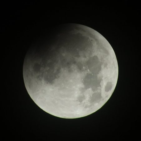 Start of partial eclipse 2.08 am. FUJIFILM FinePix HS30EXR F/5.6 at 1/320 sec. | Phil Coley