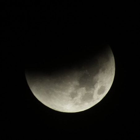 Half way through partial eclipse 2.34 am. FUJIFILM FinePix HS30EXR F/5.6 at 1/160 sec. | Phil Coley